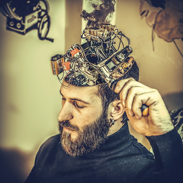 Person working his brain